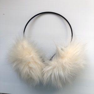 White Fluffy Earmuffs